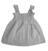 la petite collection Smock Dress Grey Gauze