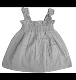 la petite collection Smock Dress Grey Gauze