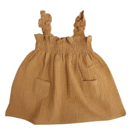 la petite collection Smock Dress Brass