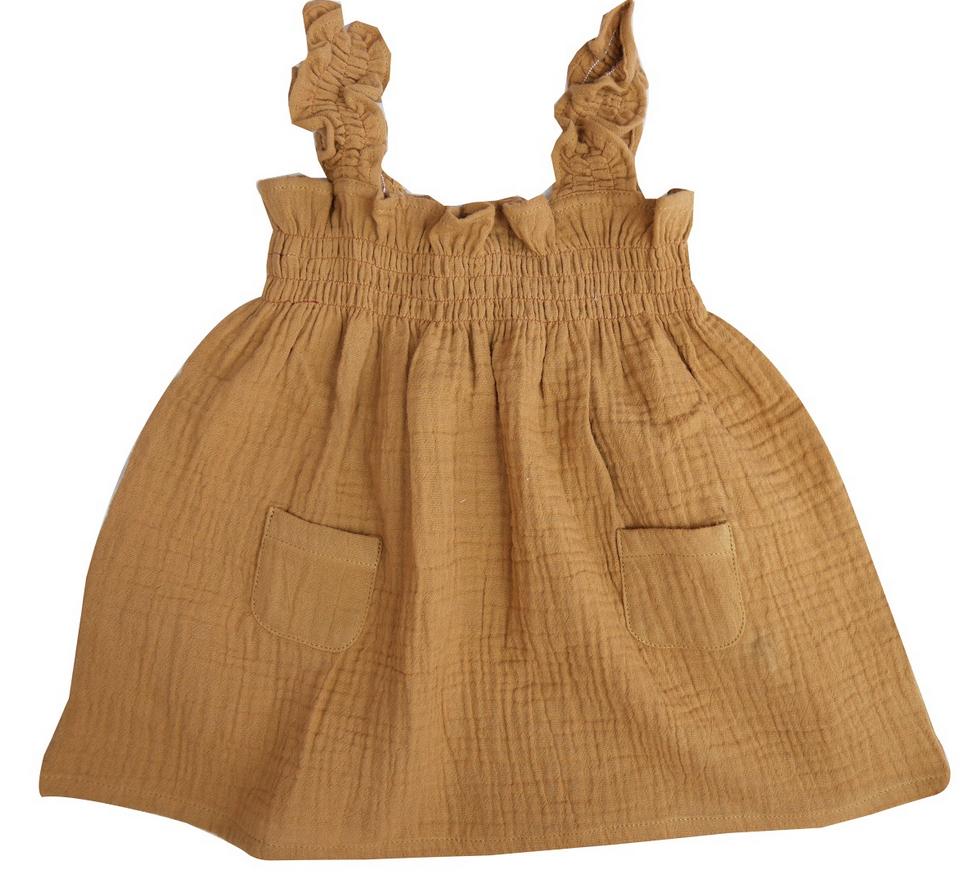 la petite collection Smock Dress Brass