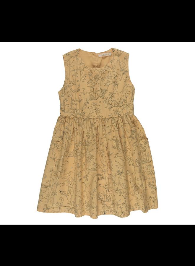 Dress Pockets Ochre 3-6m