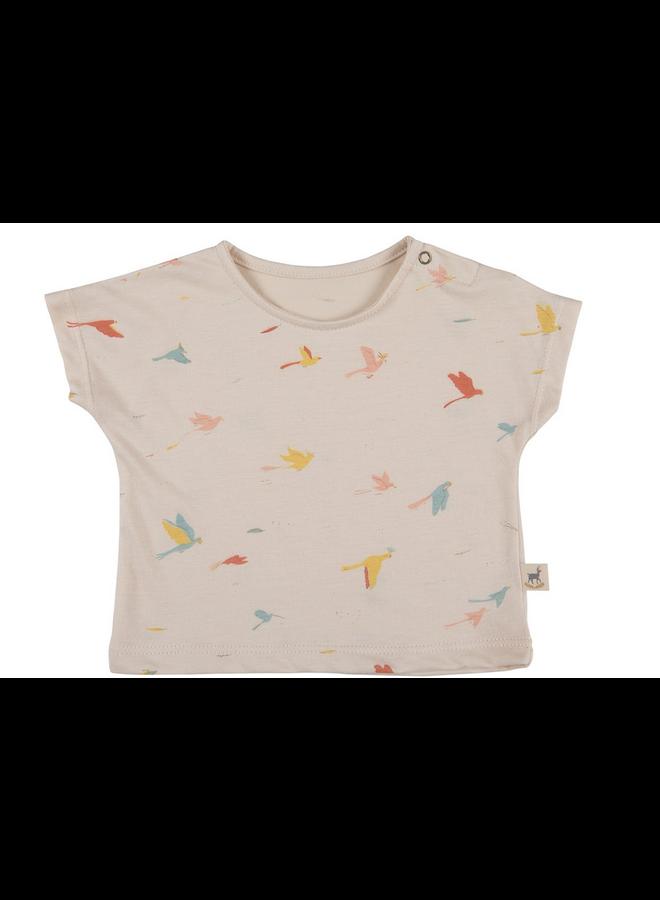 T Shirt Birds Pink
