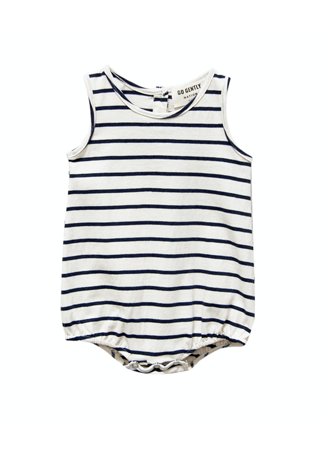 Onesie Navy Stripe