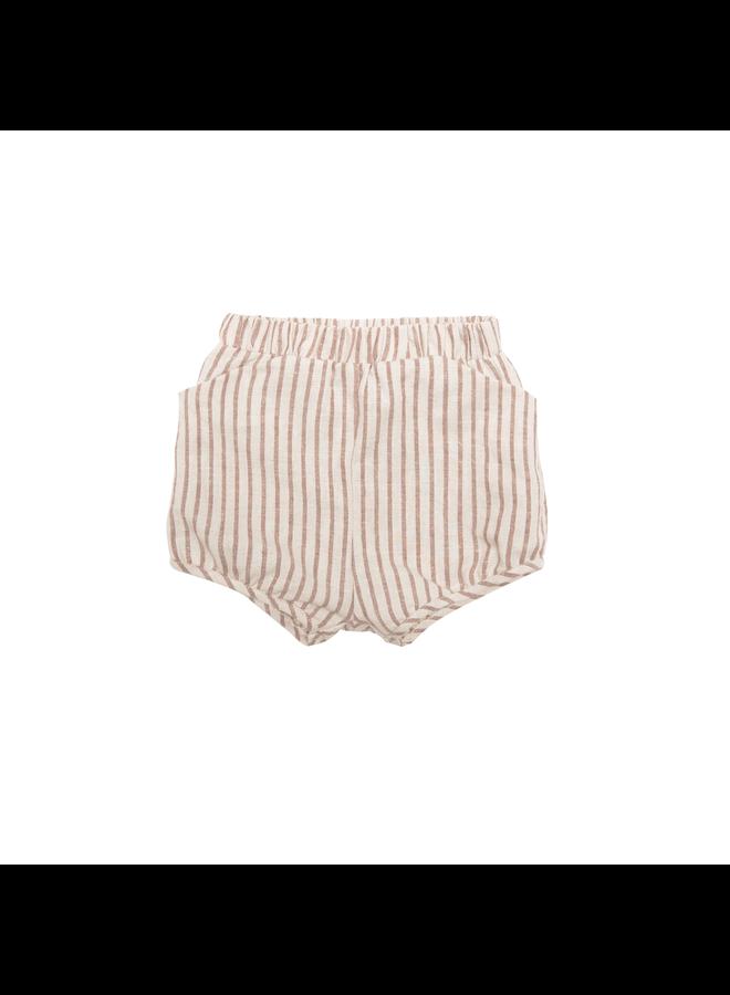 Short Hazelnut Stripe