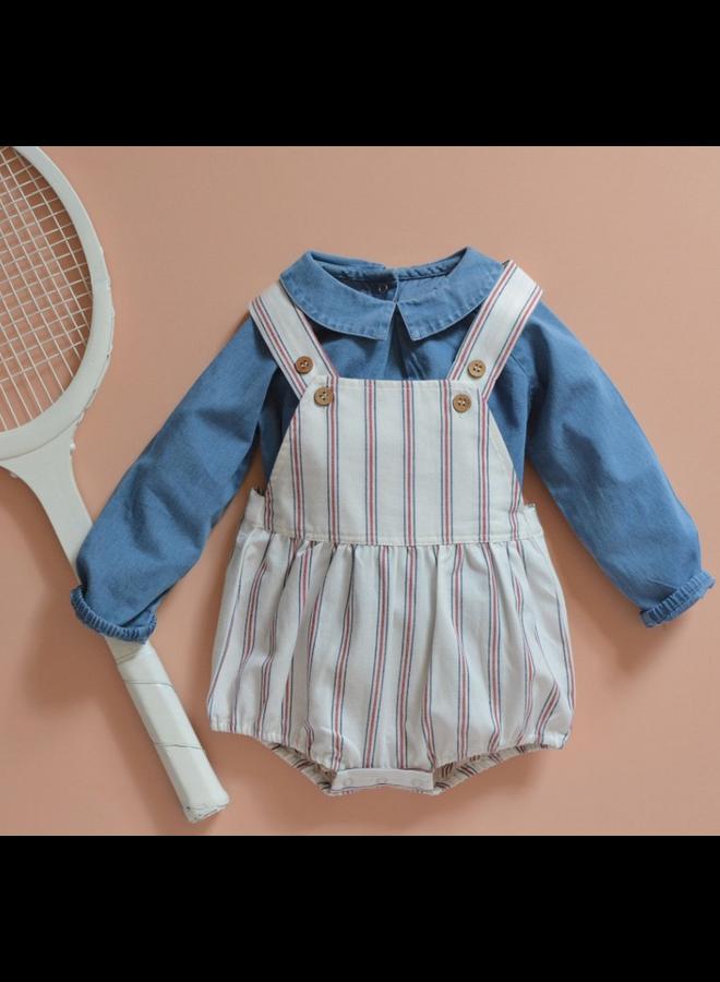 overalls tennis blue