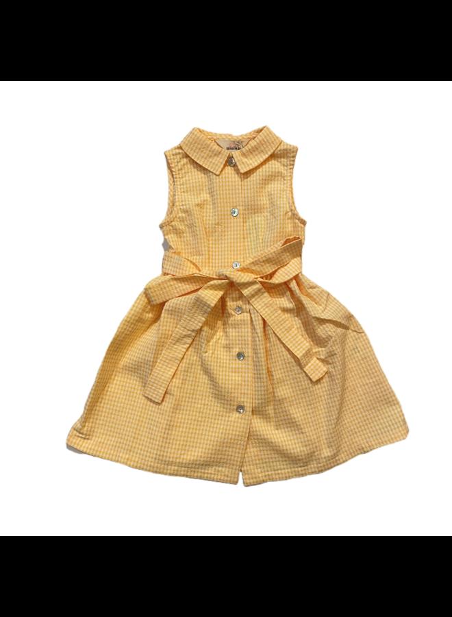 Dress Gingham Yellow