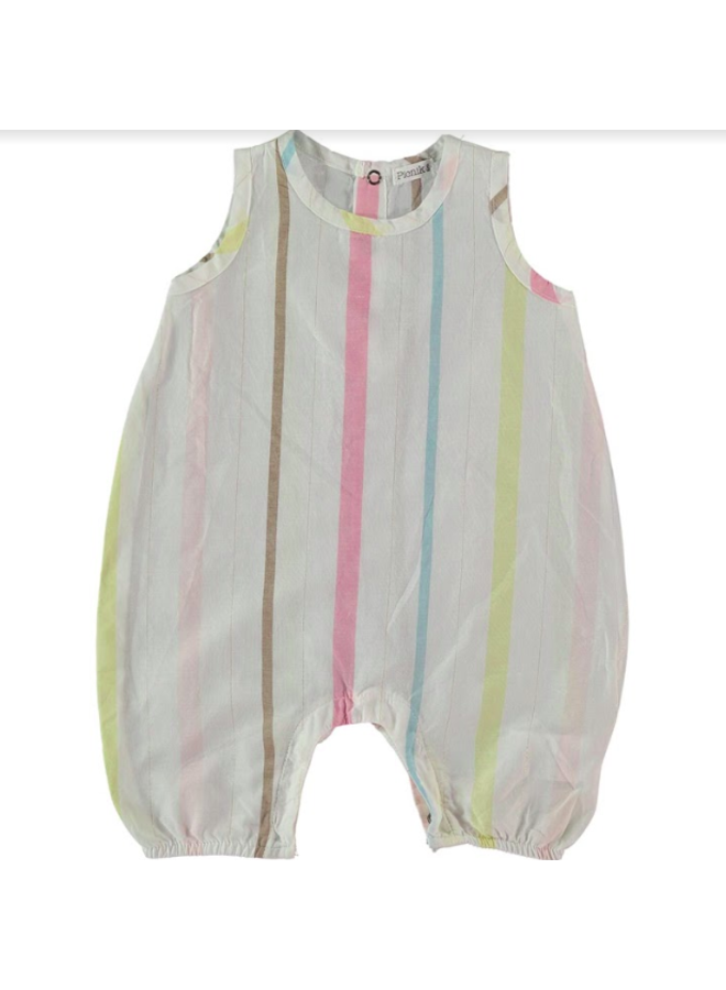 Romper White Stripe