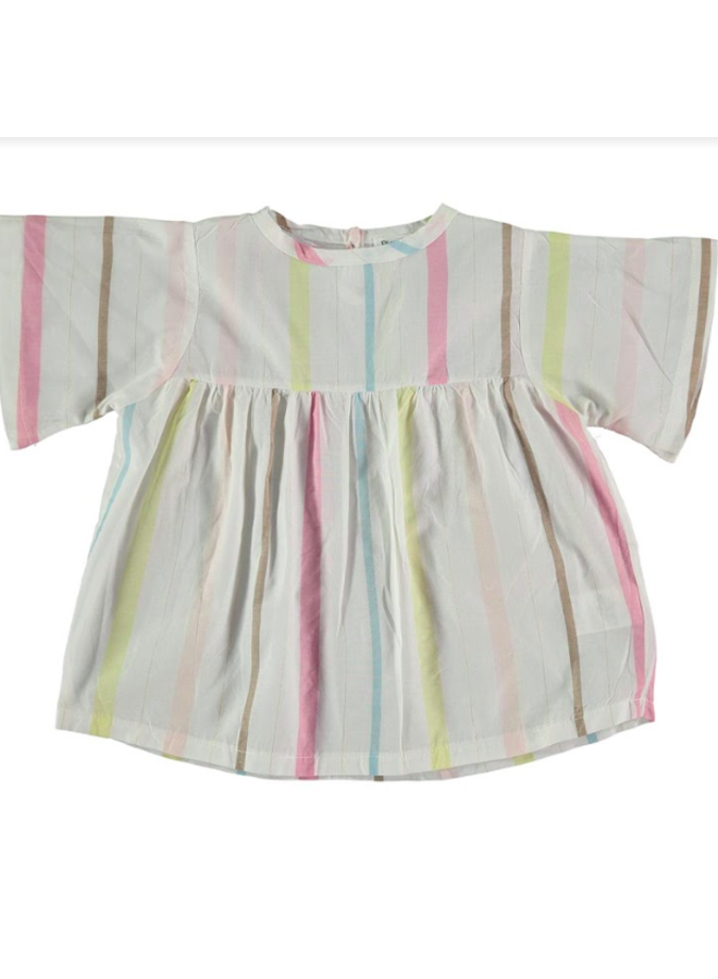Blouse White Stripe