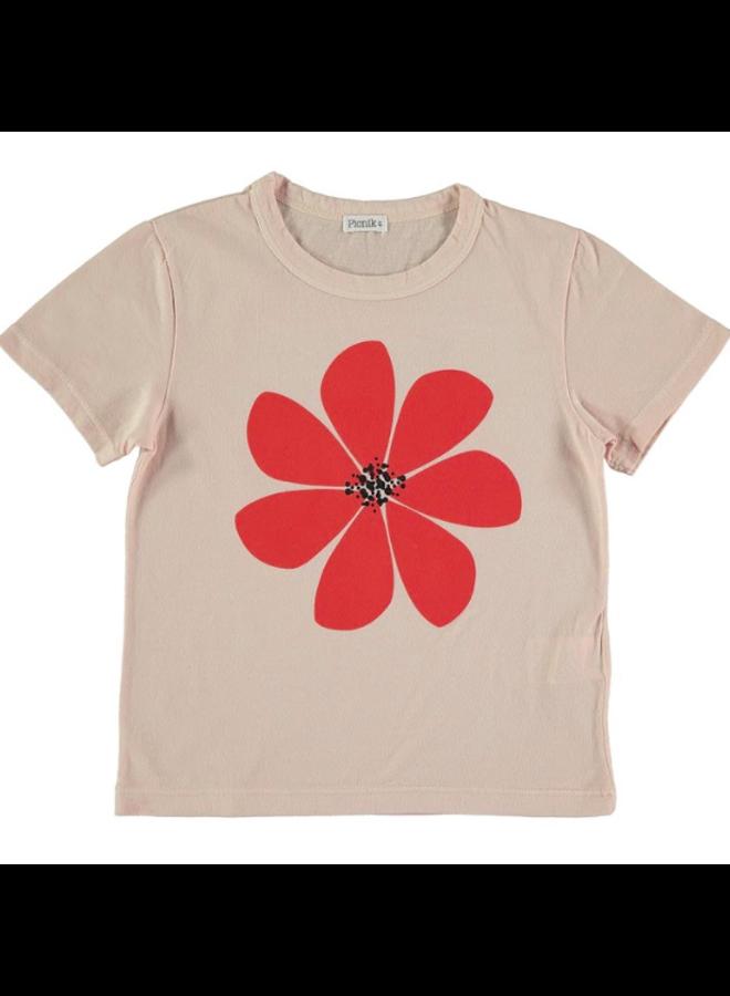 T Shirt Red Flower