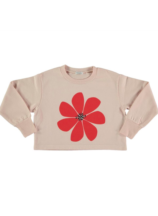 Sweater Pink Red Flower