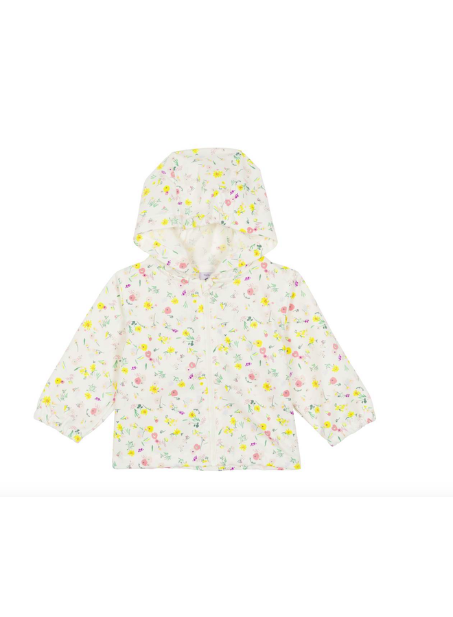 Jacket floral hooded