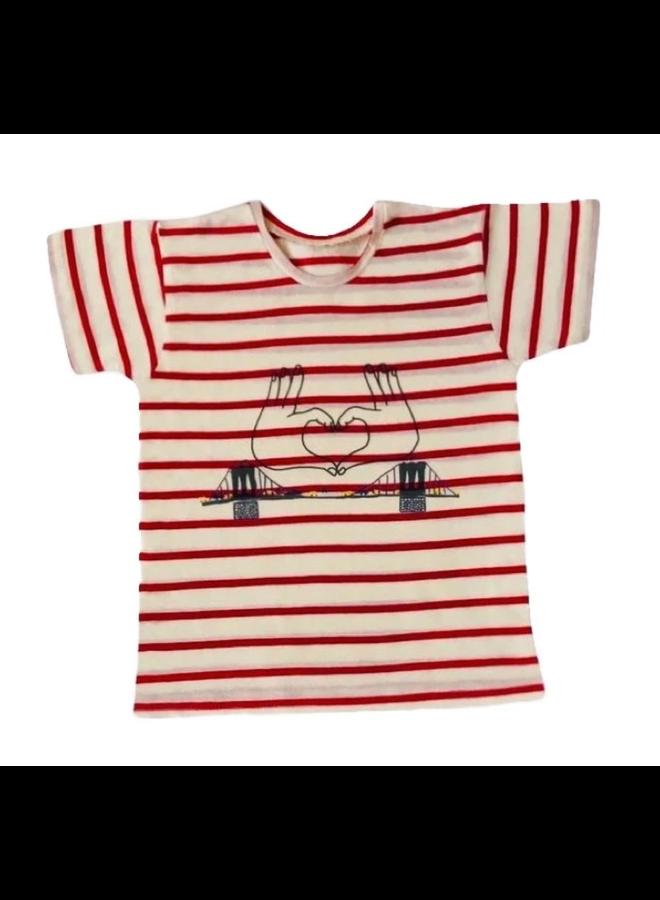 T Shirt Brooklyn Red Stripes