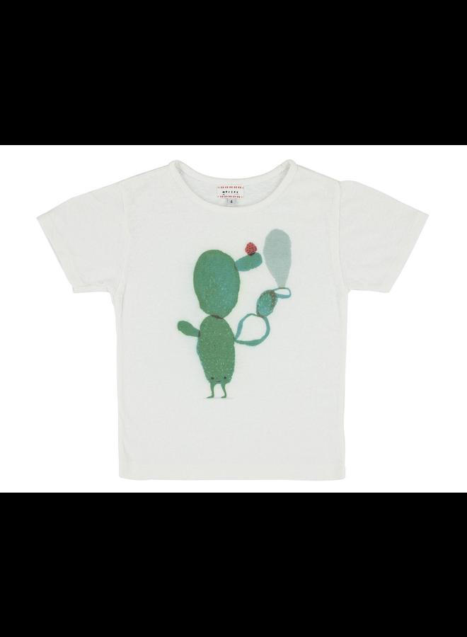 Flip Cactus White T