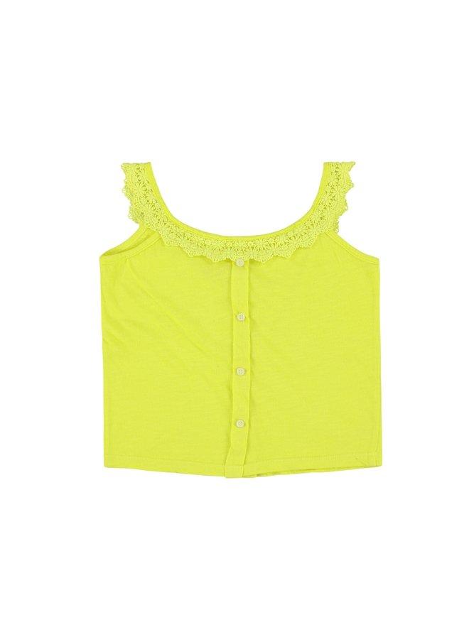Lace Jersey Lemon Shirt