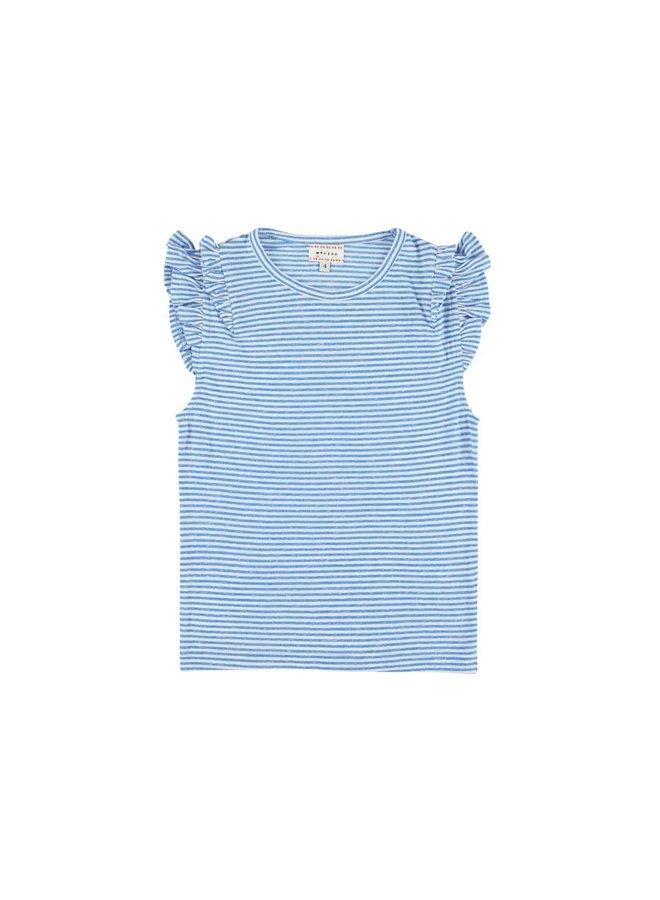 Lotus Stripe Blue T
