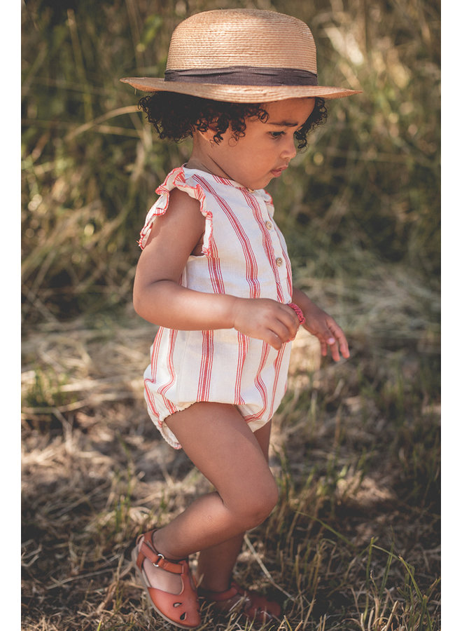Theodora Romper stripes rust
