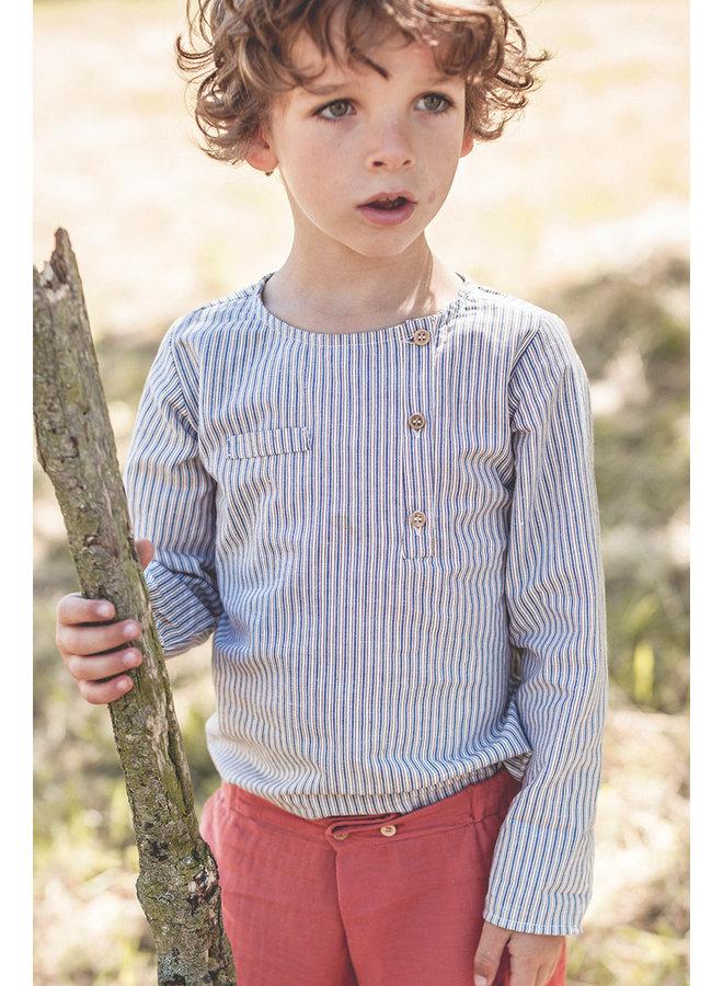 Jacques shirt blue stripes