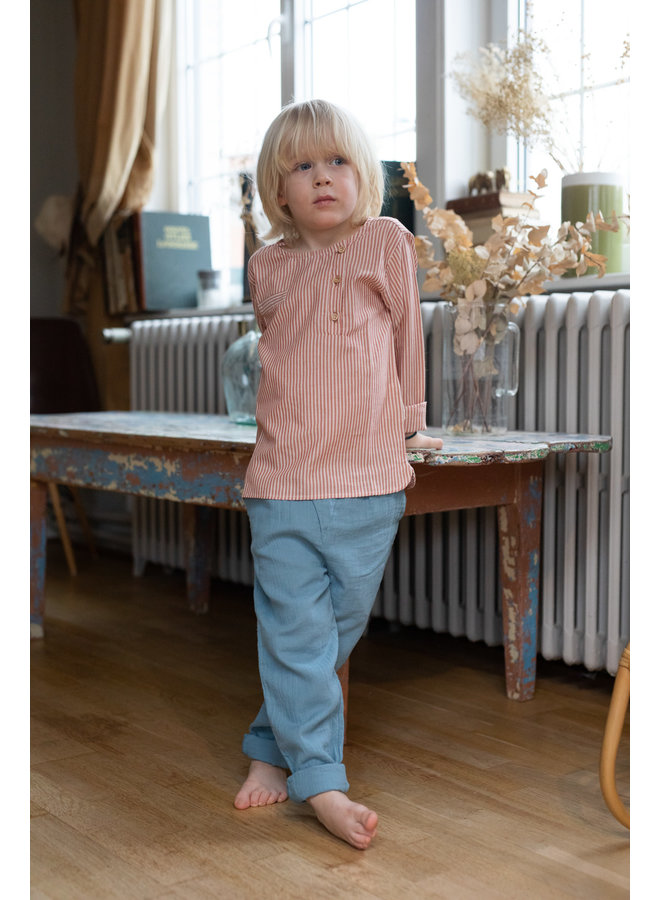 Jacques shirt rust stripes