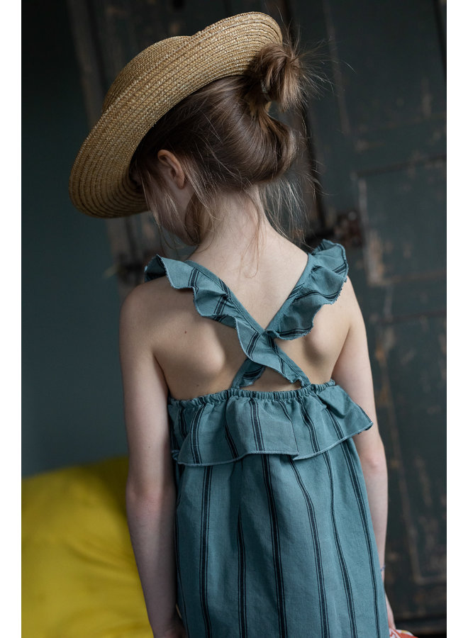 Argentine Dress linen stripes