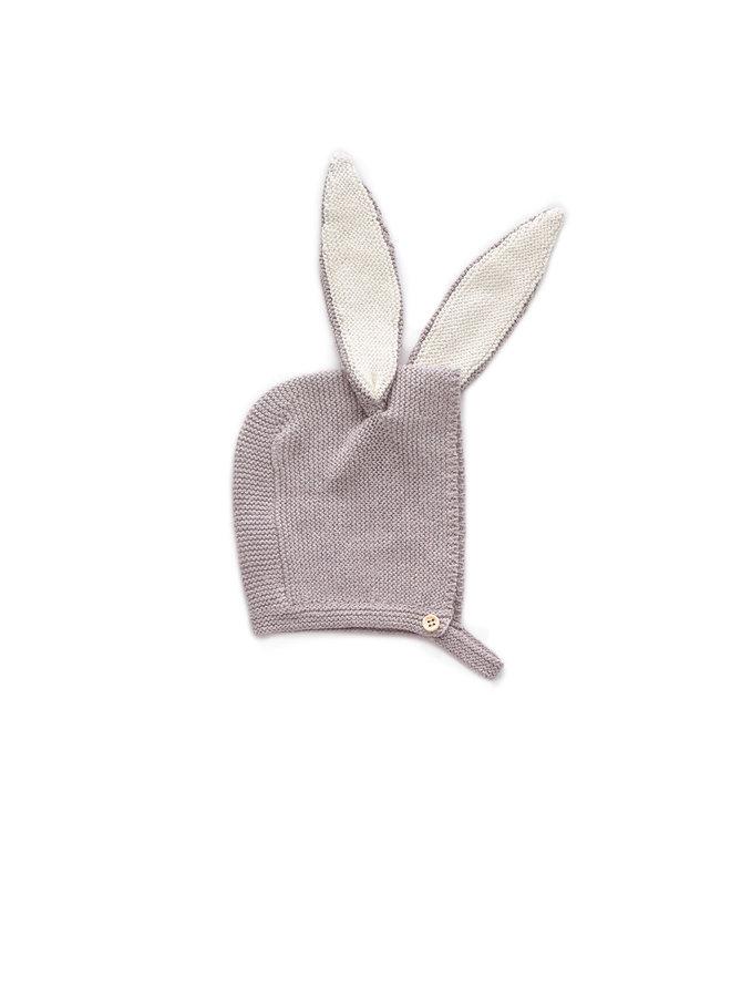 Bonnet Bunny Grey