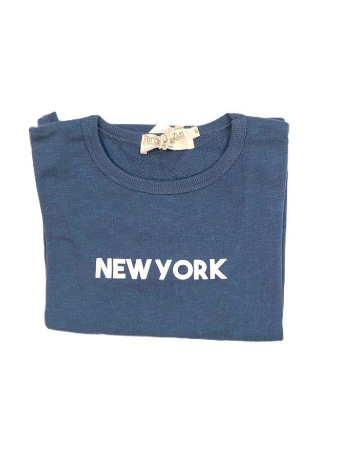 Sweater Navy/white NYC