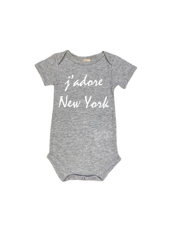 Onesie J'adore NYC - grey SS
