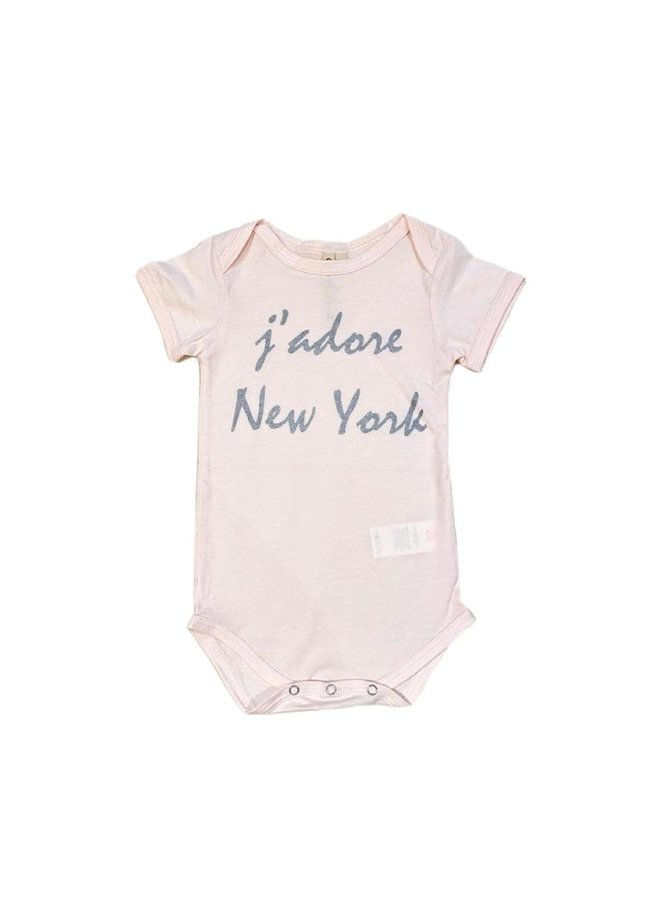 Onesie J'adore NYC - pink SS