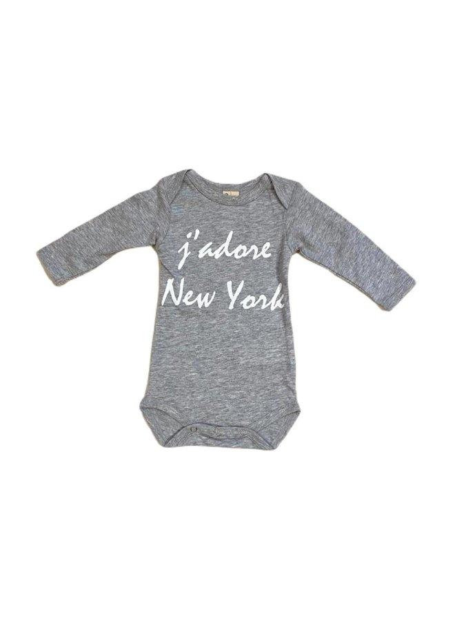 Organic J'adore NYC grey LS