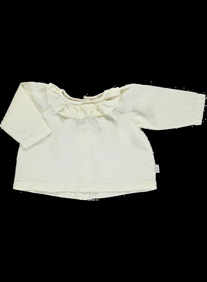 blouse charme linen almond milk