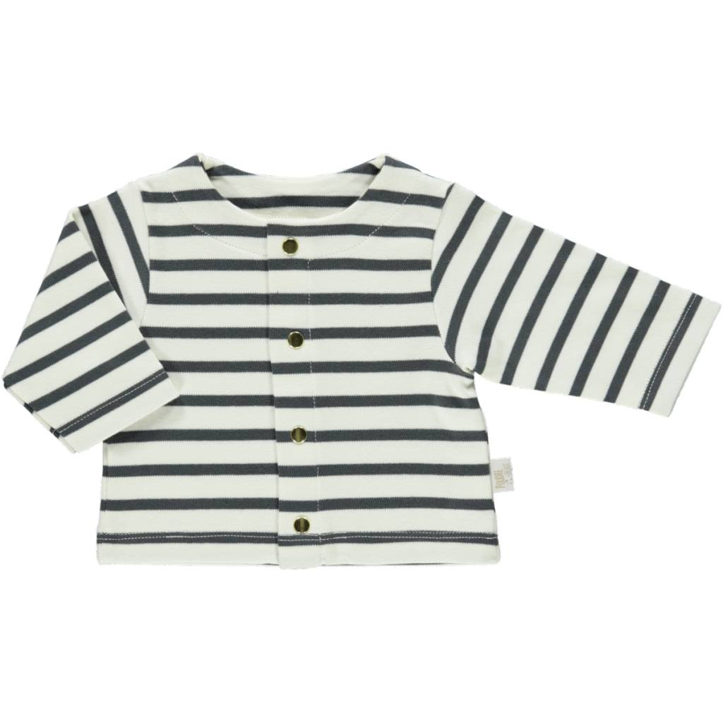 cac2d349f Poudre Organic Baby Striped Cardigan - Les Petits Chapelais