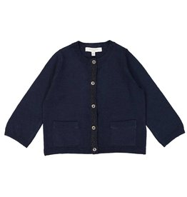 Petite Lucette Midnight blue cardigan