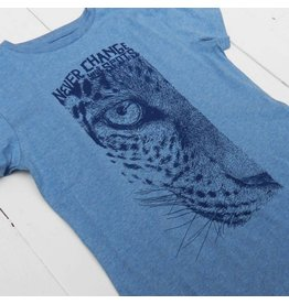 Lion of leissure Blue leopoard tee