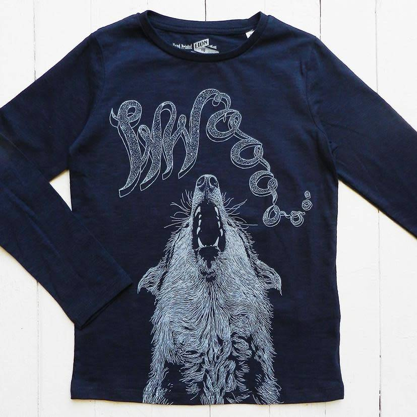 Lion of leissure Blue wolf longsleeve