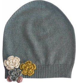Moon et Miel Flowers hat silver cloud