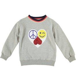 Anne Kurris Sweatshirt girl Love grey