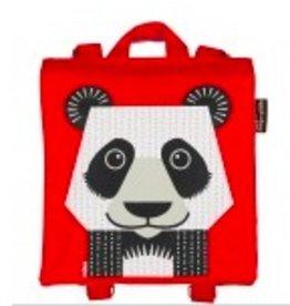 Coq en pate Panda Backpack Rouge