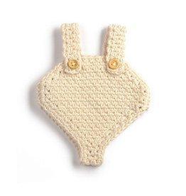minikane Crochet White Doll Romper