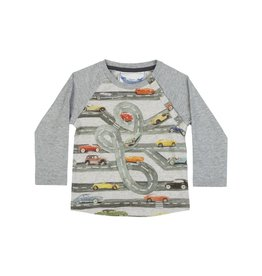 Paper Wings Baby Raglan Car Shirt