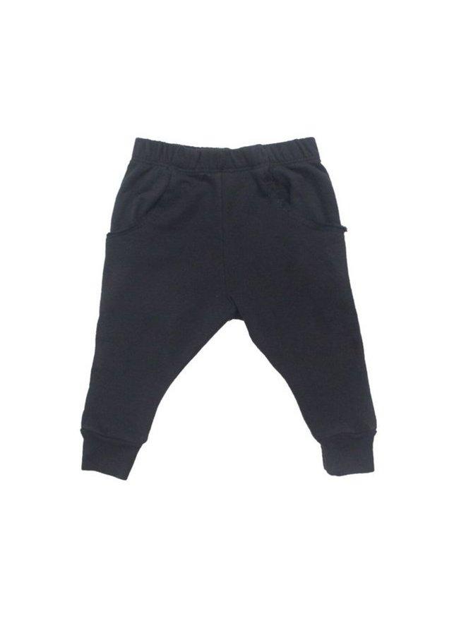 Baby Black Raw Pocket Pant