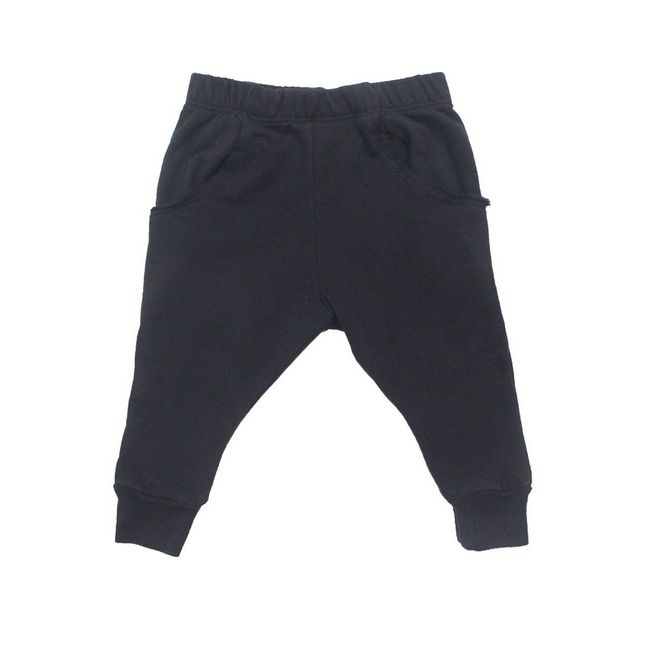 Go Gently Baby Black Raw Pocket Pant