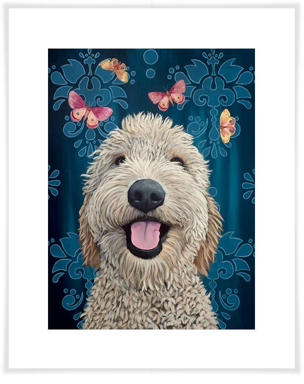 Happy Dog Wall Art