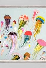 Jellyfish Framed Canvas