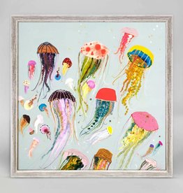 Jellyfish Framed Canvas