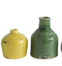 Creative Co-Op Creative Co-Op Set 4 Multi-Color Terra Cotta Vases