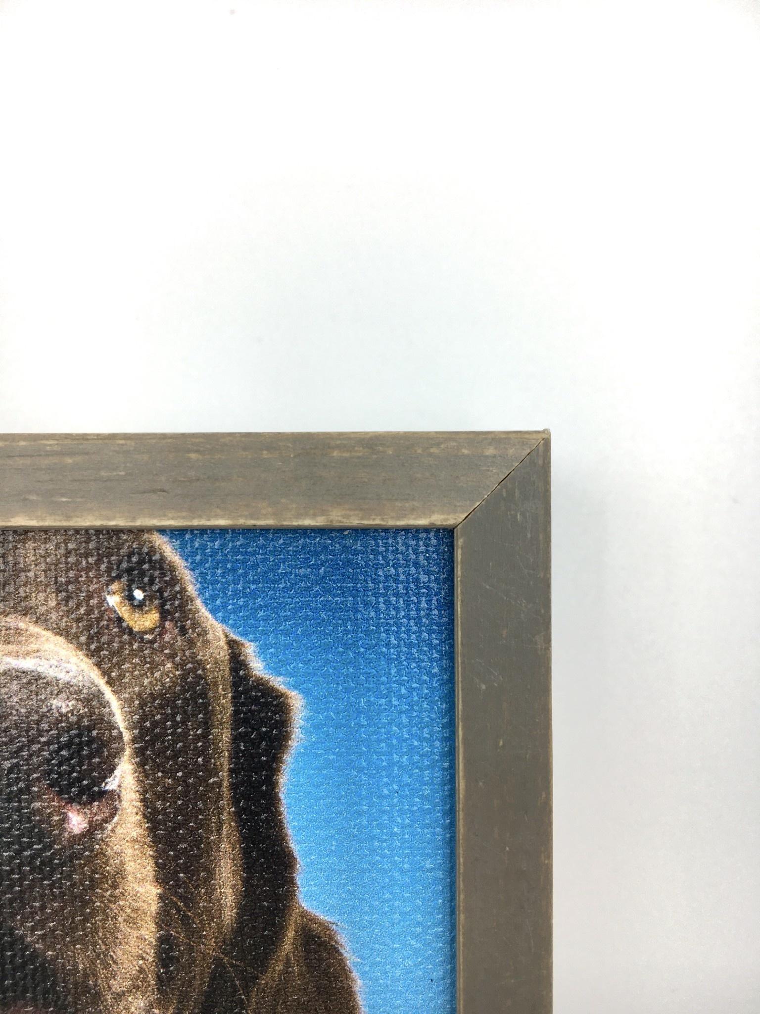 Greenbox Art  Chocolate Lab Blue