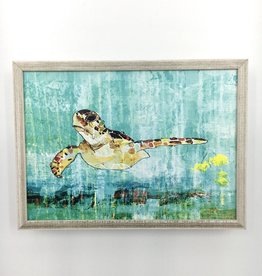 Green Sea Turtle - 7x5 Mini Framed Art