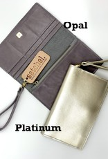 Satchel Sherry Wristlet Platinum