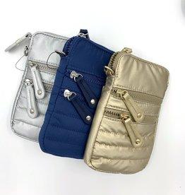 Puffer Nylon Phone Crossbody Bag
