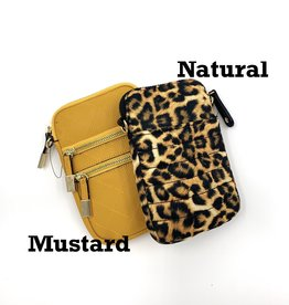 Puffer Nylon Natural Phone Crossbody