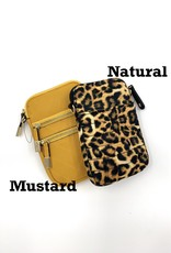 Quilted Phone Mustard Crossbody Bag
